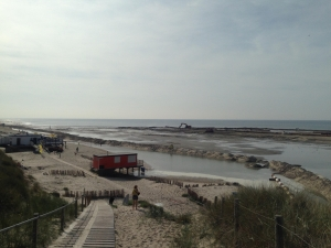 Strand Camperduin op 28 september 2014